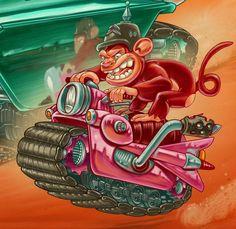 Cadillac Tank for Red Ape by David Sossella, via Behance