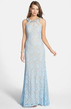 Way-In Glitter Lace Gown (Juniors) available at #Nordstrom