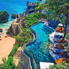 AYANA Resort and Spa - Boutique Hotel Jimbaran Bali Indonesia - Sandra Salzer - Aktuelle Bilder Jimbaran Bali, Places Around The World, Oh The Places You'll Go, Places To Travel, Places To Visit, Around The Worlds, Dream Vacations, Vacation Spots, Holiday Destinations