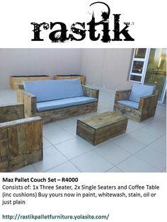Maz Pallet Couch Set Outdoor Sofa, Outdoor Furniture Sets, Outdoor Decor, Pallet Couch, Couch Set, Cushions, Table, Collection, Home Decor