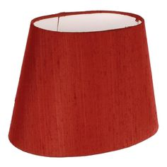 20 cm Oval Lamp Shade | Antique Red Silk | Lampshades | Jim Lawrence