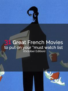 Ouiiiiii encore une nouvelle liste de films français à voir.   A new list of French Movies to watch in this Chilly October.   Have you seen some of these movies yet? Let me know in the comment section. http://www.talkinfrench.com/french-movies-october/ Like and/or share if you enjoy this article :) Bonne journée!