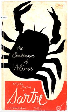 The Condemned of Altona by Sartre     Book cover by Paul Rand