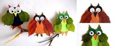 Gorgeous Leaf Crafts for Autumn and Thanksgiving. Check out these stunning leaf crafts and incorporate them in your Thanksgiving and Fall activities! Duck Crafts, Leaf Crafts, Owl Crafts, Autumn Activities, Craft Activities For Kids, Halloween Pumpkins, Halloween Crafts, Autumn Leaves Craft, Stars Craft