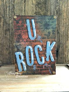 Handmade greeting card, Grungy, Teenage, Father's Day card,  by Crafting Emotion $10.50AUD