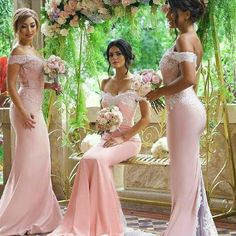 Beautiful Popular Bridesmaid Dresses, Sexy Mermaid Pink Bridesmaid Dresses, Off Shoulder Lace Long Bridesmaid Dresses for Wedding Party, Blush Pink Bridesmaid Dresses, Beautiful Bridesmaid Dresses, Lace Bridesmaid Dresses, Wedding Party Dresses, Dress Party, Party Gowns, Gown Wedding, Wedding Bride, Lace Dresses