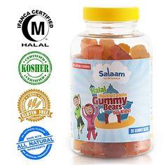 Salaam Nutritionals Kids Complete Gummy Multivitamins: Healthy Natural Nutrition, Vitamin C, Vitamin D3, Folic Acid, Vegetarian, Halal Vitamin Kosher