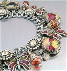 Hey, I found this really awesome Etsy listing at https://www.etsy.com/listing/123023843/butterfly-charm-bracelet-butterfly