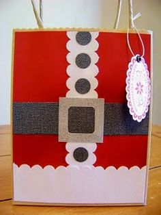 Santa Gift Bag...for our kids to make