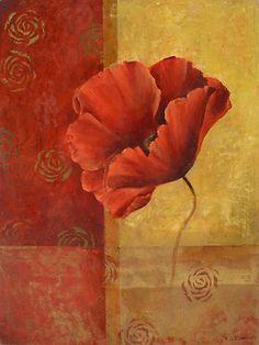 Fabrice de Villeneuve #Illustration #Flower #Scrapbook #art journal #decoupage
