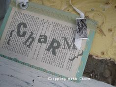 Chipping with Charm: Book Cover Signs...
