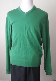 Ashworth men size M #cotton green color v-neck sweater visit our ebay store at  http://stores.ebay.com/esquirestore