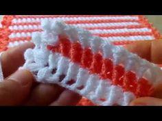 50.000!!! ABONE ÖZEL MUHTEŞEM LİF MODELİ - YouTube Crochet Bookmark Pattern, Crochet Bookmarks, Afghan Crochet Patterns, Crochet Stitches, Baby Hut, Crochet Crocodile Stitch, Baby Pullover, Baby Kind, Crochet Flowers