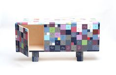 UK-based Australian designer Jay Watson: Pixel credenza and coffee table ­use discontinued Corian® samples, which create a colorful geometric surface pattern but are also strong and durable.