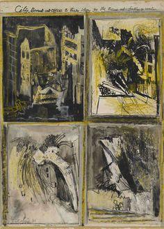 Devastation, East End, Burnt Paper Warehouse Modern Art Oxford has a great exhibition of works on paper by Graham Sutherland on a. John Minton, Burnt Paper, John Nash, Art Alevel, John Piper, British Artists, Art Forms, Homework, Graham