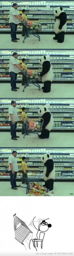 Random Panda is tired of your shit.
