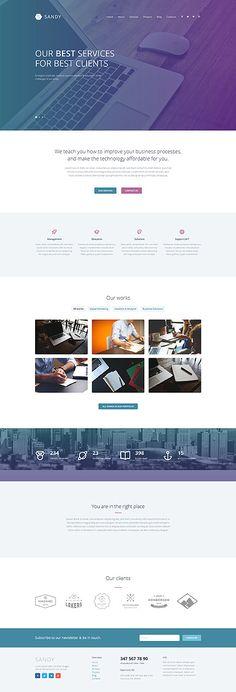 Web Design Responsive #WordPressThemes wordpress website template