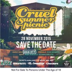 28 November, Cape Town #CSPicnic2015 Brand Building, Music Mix, Listening To Music, Cape Town, South Africa, Picnic, November, Events, November Born