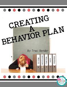 special education, behavior, behavior plans, BIPs, writing a behavior plan Classroom Behavior Management, Behavior Plans, Behavior Charts, Behavior Sheet, Behaviour Management, Behavior Tracking, Kids Behavior, Class Management, Management Tips