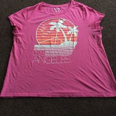 Old Navy shirt This pink Los Angeles Old Navy shirt is perfect for the summer! It is a size XXL and is true to its size! Old Navy Tops Tees - Short Sleeve