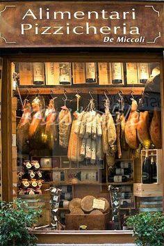 Smoked meat shop, Siena, Tuscany, Italy