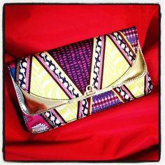 H scarf print clutch