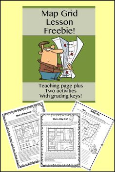 Videos, Freebies and More!If you teach a unit on maps don't miss this great freebie lesson on map grids! PLUS get map videos, games and even a SmartBoard activity on this post! 3rd Grade Social Studies, Social Studies Classroom, Social Studies Activities, Teaching Social Studies, Teaching Maps, Teaching Geography, Teaching History, Teaching Ideas, Fun Classroom Activities