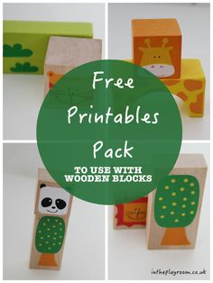 Free Printables to go alongside 18 Ways to Play and Learn with Wooden Blocks