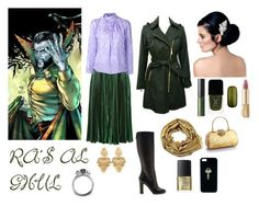 """""""Ra's Al Ghul"""" by ladydeathstrikex ❤ liked on Polyvore featuring Rochas, Nina Ricci, Matthew Williamson, MAKE UP STORE, Formula X, Dolce&Gabbana, NARS Cosmetics, The Giving Keys, women's clothing and women"""