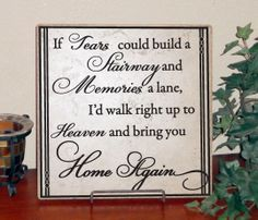 If tears could build a stairway Vinyl design on 12 x 12 by LEVinyl, $30.00