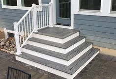 Ideas For High Deck Stairs Front Doors