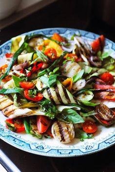 Salade de légumes grillés - Summer grilled veggie salad - Recipe in English...