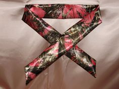 PINK CAMO TRUE TIMBER SATIN  FLOWER GIRL  5 FOOT SASH These are sold in my Ebay store gidesigns   and will be custom made in your choice of bridal colors. See my store for many more unique custom made bridal accessories at great prices.