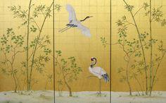 Chinoiserie Wallpaper, Hand Painted Chinoiserie Wallpaper