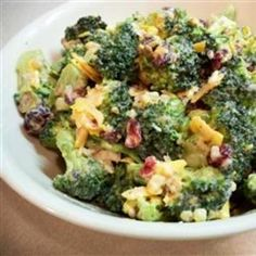 Bodacious Broccoli Salad:  Really delicious.  I added 1/4 cup risins for a sweet taste.