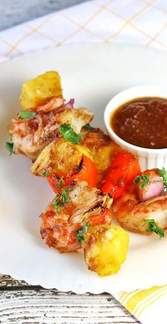 Barbecue Shrimp with Pineapple BBQ Glaze #WeekdaySupper - Recipes Food and Cooking