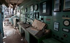 Control Panel in Abandoned French Power Plant