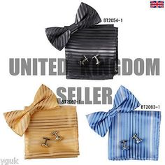 Ebc1a32 gift for him stripes silk pre-tied bow tie #cufflinks #hanky by #epoint,  View more on the LINK: http://www.zeppy.io/product/gb/2/152139281625/