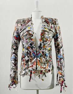Compressed Paper Jacket 2010. Compressed and cellotaped. By Maison Martin Margiela - Artisanal Collection. www.whats-wrong-with-the-zoo.com