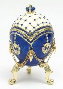 Faberge Egg Wedding or Engagement Ring Box, Art - Faberge Eggs, Boxes, Jewelry, Ornaments & More