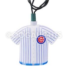 Chicago Cubs MLB Baseball Uniform Party String Lights - MLB Baseball Party Lights & String Lights