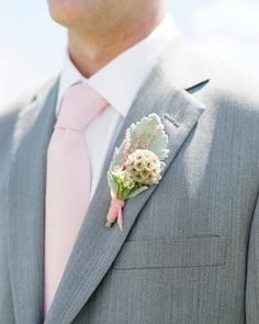"See the ""The Boutonnieres"" in our A Pink Rustic Wedding in a Barn in Colorado gallery"