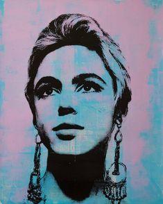 Edie Sedgwick, Spray Paint Art, Creative Portraits, Acrylic Painting Canvas, Medium Art, Urban Art, Lovers Art, Buy Art, Saatchi Art