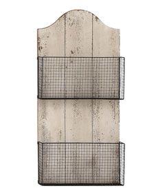 Look what I found on #zulily! Wire Wall Basket #zulilyfinds