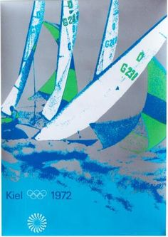 olympic sailing poster designed by otl aicher 1972