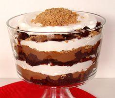 Chocolate Toffee Trifle    YUMMMM!!!!!