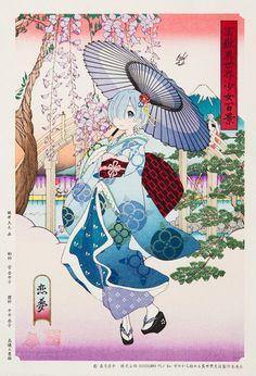 Rem (Re:Zero) - Re:Zero Kara Hajimeru Isekai Seikatsu - Image - Zerochan Anime Image Board Kawaii Crush, Re Zero Wallpaper, Ram And Rem, Re Zero Rem, Tamako Love Story, Anime Kunst, Best Waifu, Human Art, Yukata