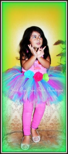 Colorful tutu skirt for any occasion. This Beautiful tutu, is hand made with soft tulle, holding on a wide elastic crochet top. This Cute tutu has