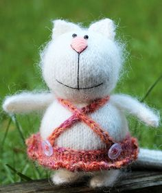 Amigurumi Cat Hand Knitted Mohair Cat by MiniCutiesWorld on Etsy