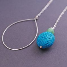 Turquoise Lariat Necklace by georgiedesigns